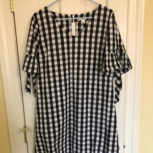 Brand new, w tags, JCREW women's checkered dress!